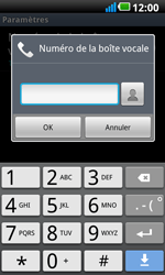 LG P990 Optimus 2X Speed - Messagerie vocale - configuration manuelle - Étape 8