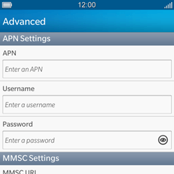 BlackBerry Q5 - Mms - Manual configuration - Step 8