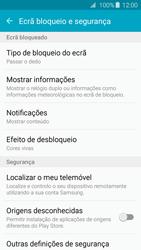 Samsung Galaxy A3 A310F 2016 - Segurança - Como ativar o código de bloqueio do ecrã -  5