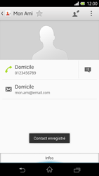 Sony Xpéria Z - Contact, Appels, SMS/MMS - Ajouter un contact - Étape 10