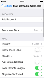 Apple iPhone 5 iOS 7 - E-mail - Manual configuration - Step 4