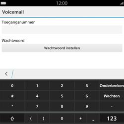 BlackBerry Passport - Voicemail - Handmatig instellen - Stap 8