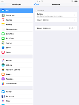 Apple iPad Mini 3 iOS 10 - E-mail - Handmatig instellen (outlook) - Stap 10
