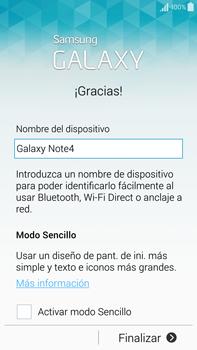 Samsung N910F Galaxy Note 4 - Primeros pasos - Activar el equipo - Paso 15