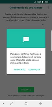 Samsung Galaxy S9 - Aplicações - Como configurar o WhatsApp -  11