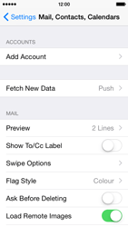 Apple iPhone 5s - iOS 8 - E-mail - Manual configuration - Step 5