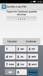 Alcatel POP C7 - Segurança - Como ativar o código de bloqueio do ecrã -  8