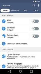 LG K10 4G - Internet no telemóvel - Como ativar os dados móveis -  4