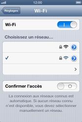 Apple iPhone 4 S - iOS 6 - Wifi - configuration manuelle - Étape 6
