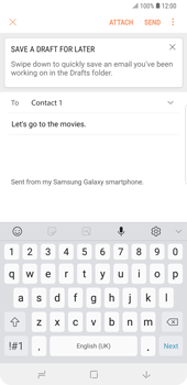 Samsung Galaxy Note9 - E-mail - Sending emails - Step 10
