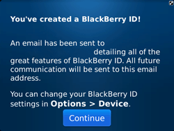 BlackBerry 9720 Bold - BlackBerry activation - BlackBerry ID activation - Step 14