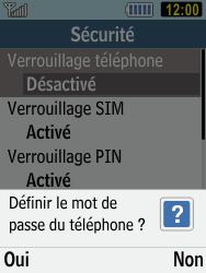 Samsung C3590 - Sécuriser votre mobile - Activer le code de verrouillage - Étape 6