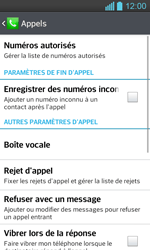 LG P710 Optimus L7 II - Messagerie vocale - Configuration manuelle - Étape 5
