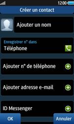 Samsung Wave 2 - Contact, Appels, SMS/MMS - Ajouter un contact - Étape 4