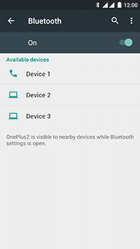 OnePlus 2 - WiFi and Bluetooth - Setup Bluetooth Pairing - Step 6