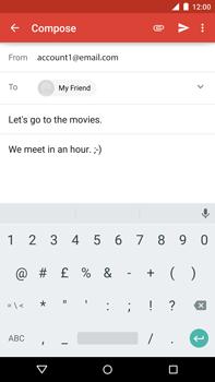 Motorola Nexus 6 - Email - Sending an email message - Step 9