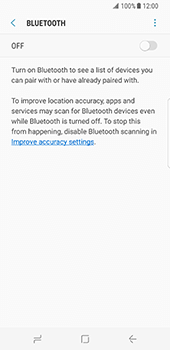 Samsung Galaxy S8 - WiFi and Bluetooth - Setup Bluetooth Pairing - Step 6