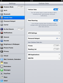 Apple iPad mini - Internet - Usage across the border - Step 4