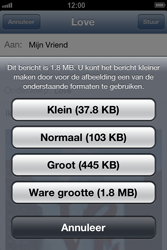 Apple iPhone 4 met iOS 6 - E-mail - e-mail versturen - Stap 12