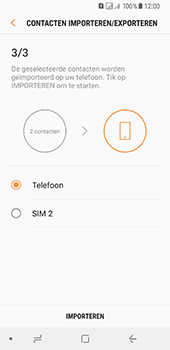 Samsung Galaxy A8 (2018) (SM-A530F) - Contacten en data - Contacten kopiëren van SIM naar toestel - Stap 13