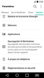 LG K4 2017 - Device maintenance - Retour aux réglages usine - Étape 5