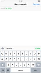 Apple iPhone 6 Plus iOS 8 - Mensajería - Escribir y enviar un mensaje multimedia - Paso 8