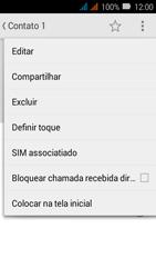 Huawei Y3 - Chamadas - Como bloquear chamadas de um número específico - Etapa 6