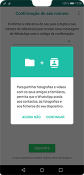 Huawei P20 - Aplicações - Como configurar o WhatsApp -  6