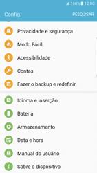 Samsung Galaxy S7 Edge - Primeiros passos - Como encontrar o número de IMEI do seu aparelho - Etapa 4