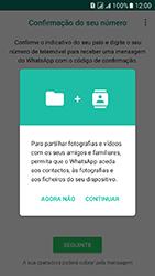 Samsung Galaxy J5 (2016) DualSim (J510) - Aplicações - Como configurar o WhatsApp -  6