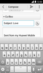 Huawei Ascend Y330 - E-mail - Sending emails - Step 9