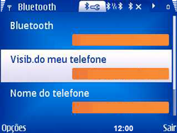Nokia E5-00 - Bluetooth - Como ajustar configurações do Bluetooth - Etapa 6