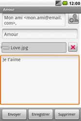 LG GW620 - E-mail - envoyer un e-mail - Étape 11