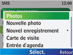 Nokia C3-00 - MMS - envoi d'images - Étape 5