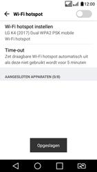 LG K4 (2017) (LG-M160) - WiFi - Mobiele hotspot instellen - Stap 9