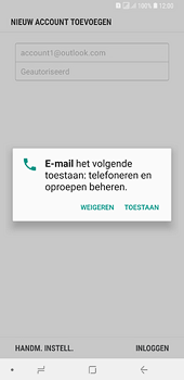 Samsung Galaxy A6 Plus - E-mail - handmatig instellen (outlook) - Stap 10