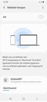 Samsung galaxy-a40-dual-sim-sm-a405fn - WiFi - Mobiele hotspot instellen - Stap 7