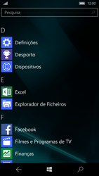 Microsoft Lumia 950 - Segurança - Como ativar o código de bloqueio do ecrã -  3