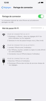 Apple iPhone XS Max - Internet et connexion - Utiliser le mode modem par USB - Étape 8