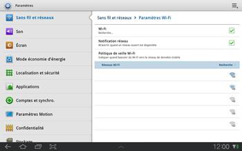 Samsung P7500 Galaxy Tab 10-1 - Wifi - configuration manuelle - Étape 5