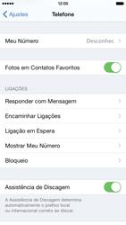 Apple iPhone iOS 8 - Chamadas - Como bloquear chamadas de um número específico - Etapa 5