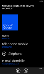 Nokia Lumia 925 - Contact, Appels, SMS/MMS - Ajouter un contact - Étape 11