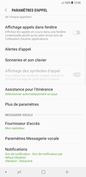 Samsung Galaxy S8 Plus - Android Oreo - Messagerie vocale - configuration manuelle - Étape 7