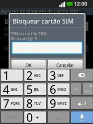 LG E400 - Segurança - Como ativar o código PIN do cartão de telemóvel -  7