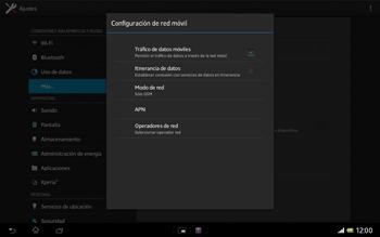 Sony Xperia Tablet Z - Red - Seleccionar el tipo de red - Paso 8