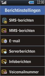 Samsung S5620 Monte - Voicemail - Handmatig instellen - Stap 5