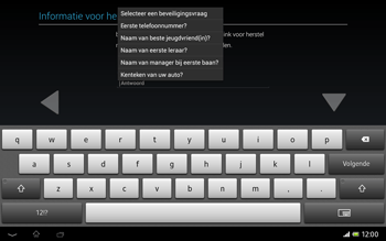 Sony SGP321 Xperia Tablet Z LTE - Applicaties - Account aanmaken - Stap 14