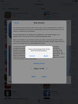 Apple iPad mini 4 iOS 10 - Applications - Create an account - Step 10