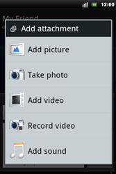 Sony Ericsson Xperia Mini Pro - Mms - Sending a picture message - Step 10