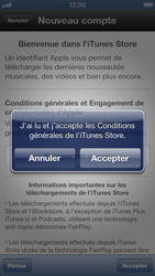 Apple iPhone 5 - Applications - Créer un compte - Étape 7
